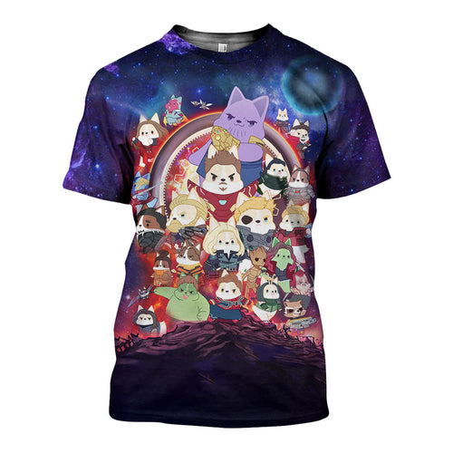 3D All Over Printed Infinity War Corgis Shirts And Shorts TQD081101