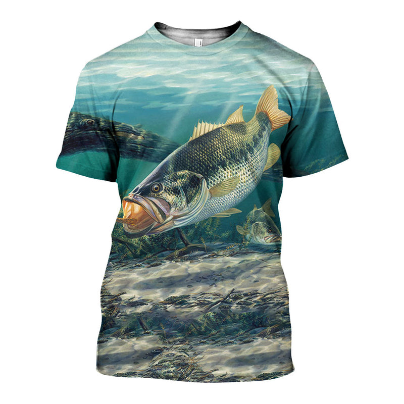 3D All Over Printed Bass Fishing Shirts And Shorts DT27051903