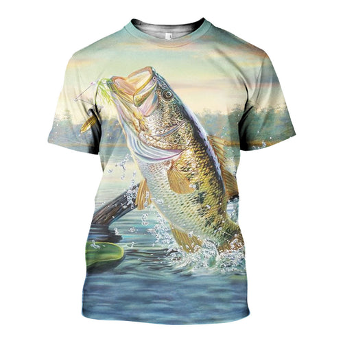 3D All Over Printed Bass Fishing Shirts And Shorts DT27051905