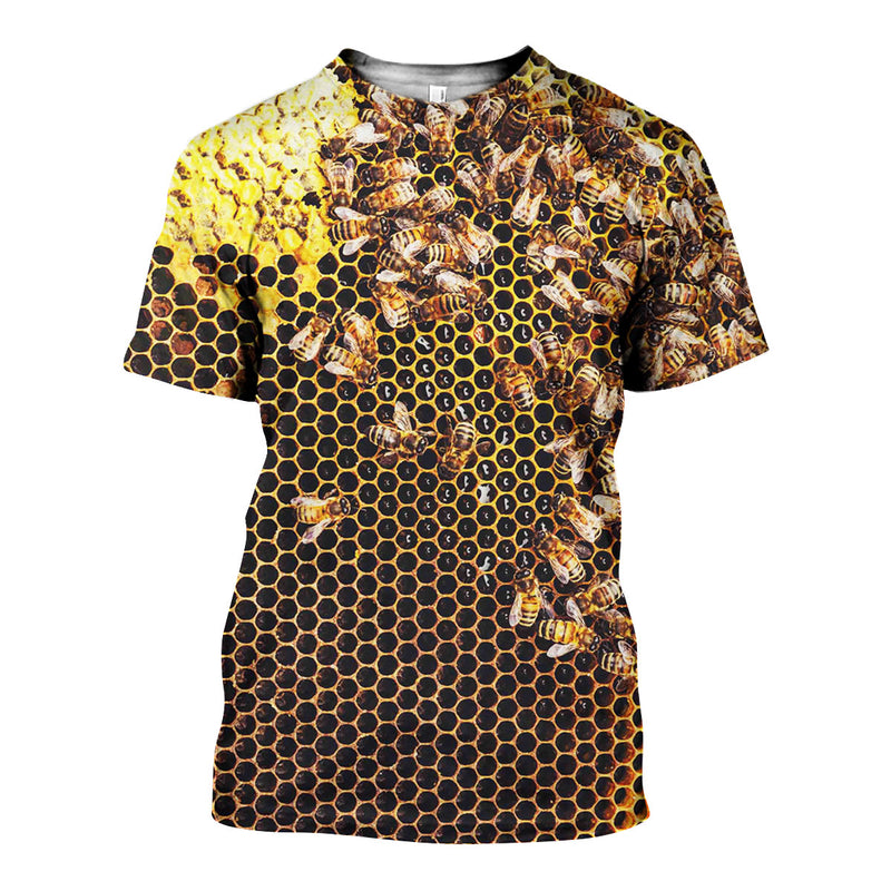 3D All Over Printed Bees Shirts And Shorts DT151104