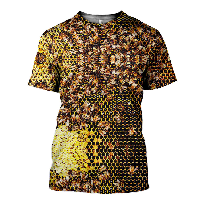 3D All Over Printed Bees Shirts And Shorts HD121202