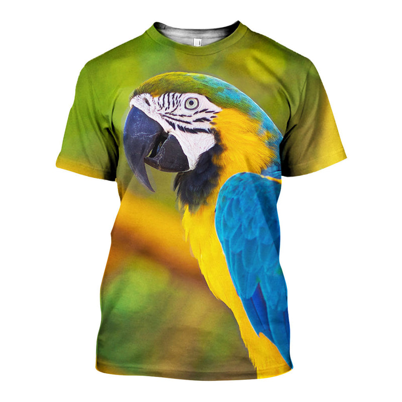 3D All Over Printed Blue and Yellow Macaw Shirts And Shorts DT231102