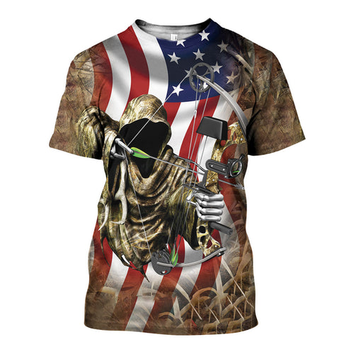 3D All Over Printed Bowhunting Camo Shirts And Shorts DT191118