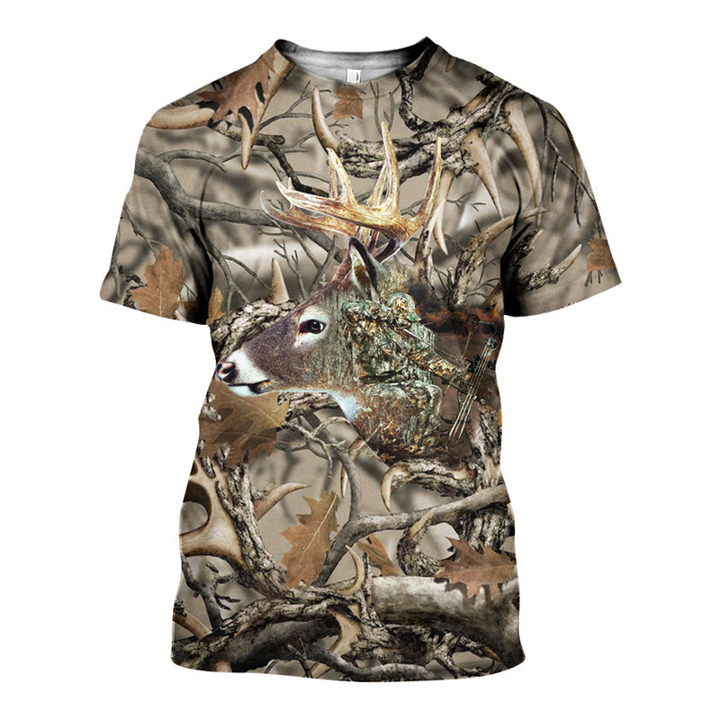 3D All Over Printed Bow Hunting Shirts And Shorts DT251211