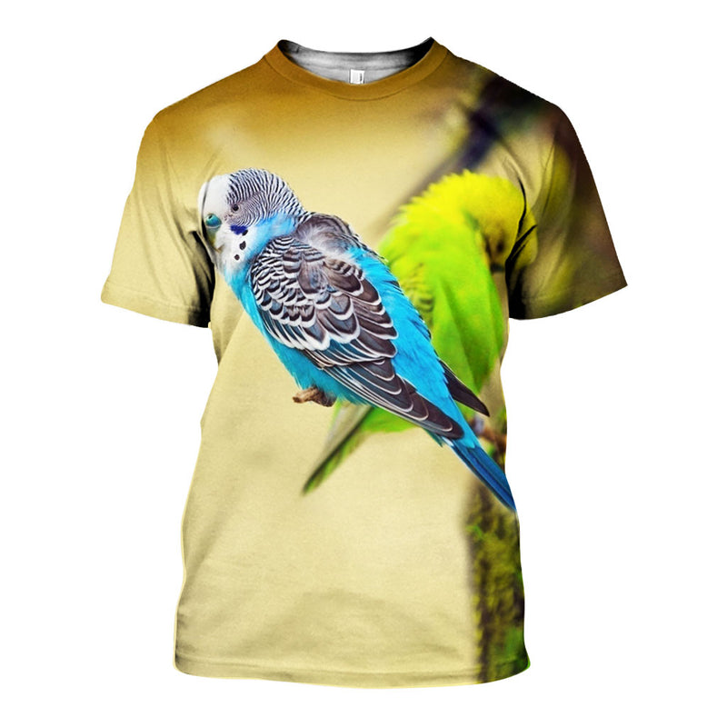 3D All Over Printed Budgerigar Shirts And Shorts DT08081902