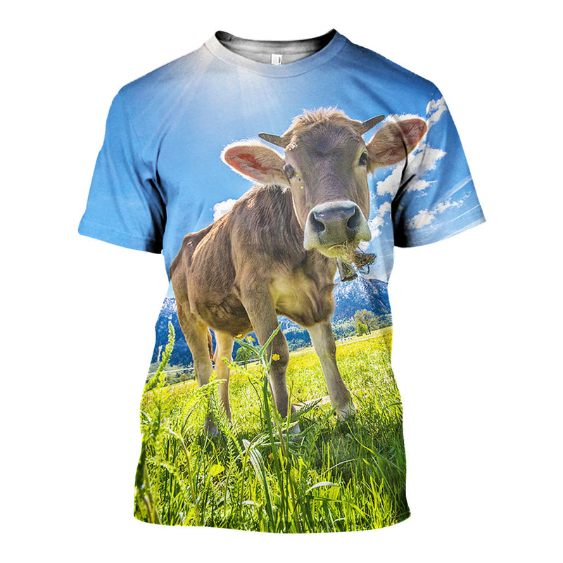 3D All Over Printed Cow Shirts And Shorts DT05091908
