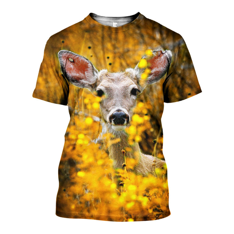 3D All Over Printed Deer Shirts And Shorts DT03061903