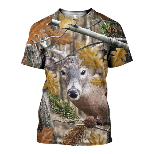 3D All Over Printed Deer Camo Shirts And Shorts DT171104