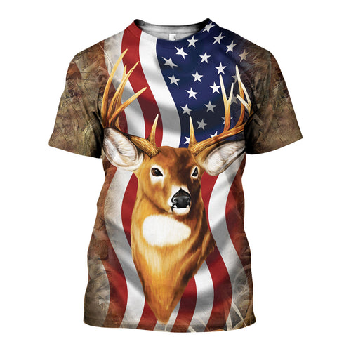 3D All Over Printed Deer Camo Shirts And Shorts DT191119
