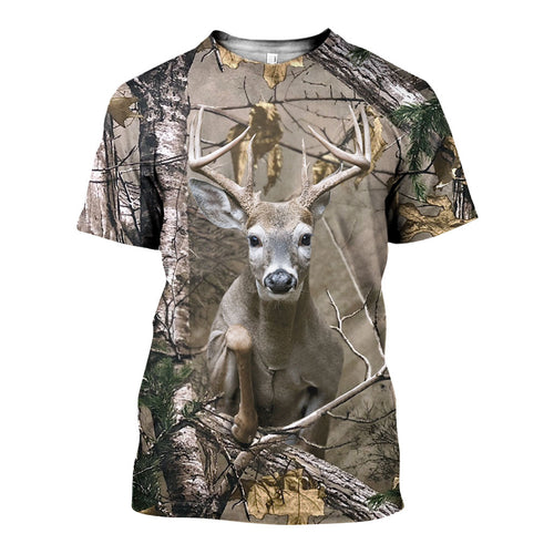 3D All Over Printed Deer Camo Shirts And Shorts DT251210