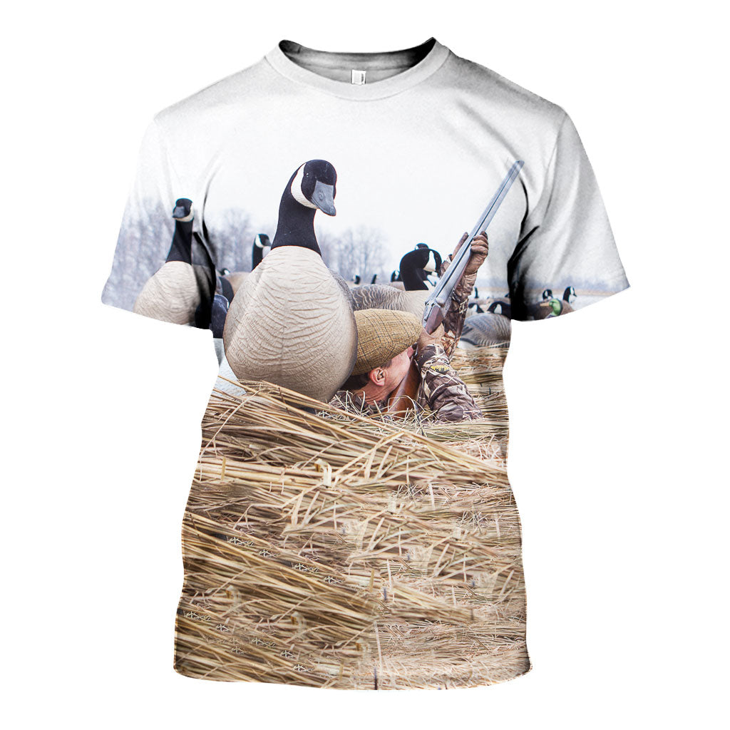 a710fc48e756 3D All Over Printed Duck Hunting Shirts And Shorts DT141109 ...