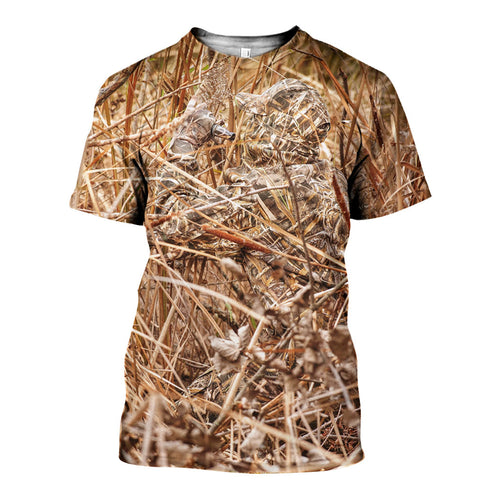 3D All Over Printed Duck Hunting Camo Shirts And Shorts DT171108