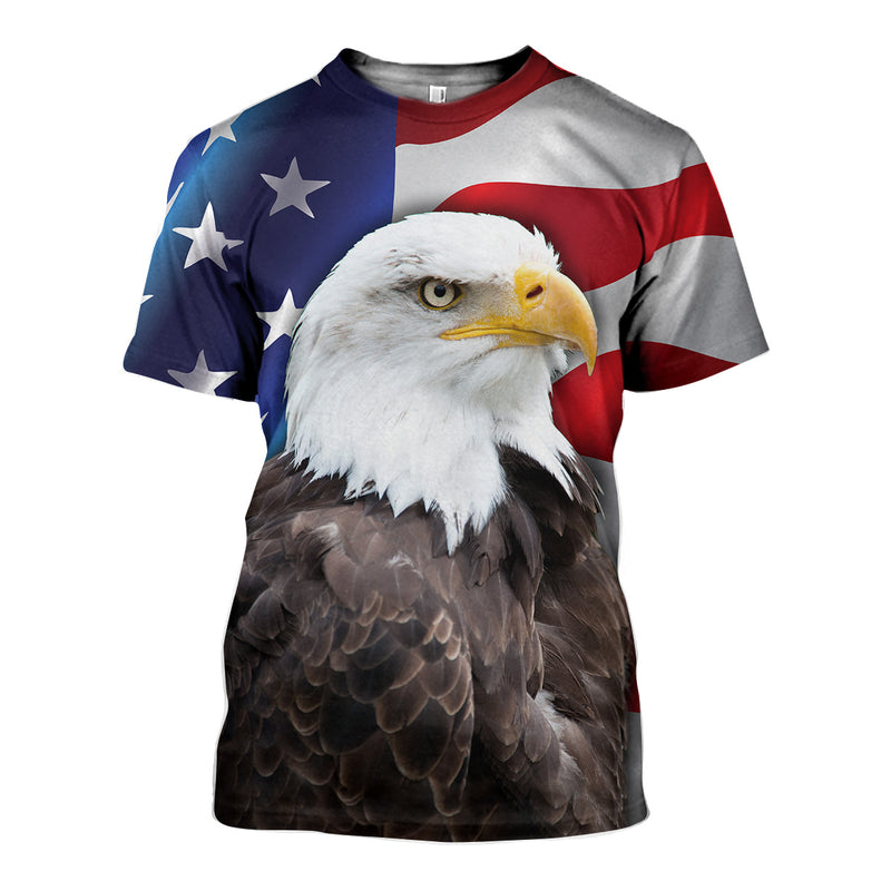 3D All Over Printed Eagle Shirts And Shorts HD091101