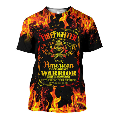 3D All Over Printed Firefighter Shirts And Shorts DT08071901