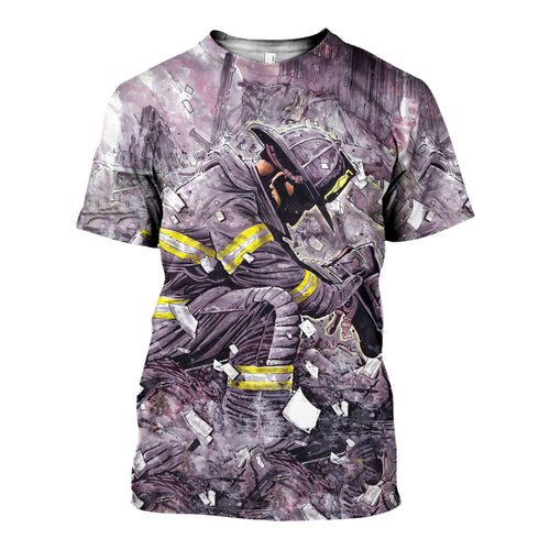 3D All Over Printed Firefighter Shirts And Shorts DT11041904