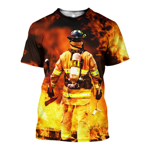 3D All Over Printed Firefighter Shirts And Shorts DT15071902