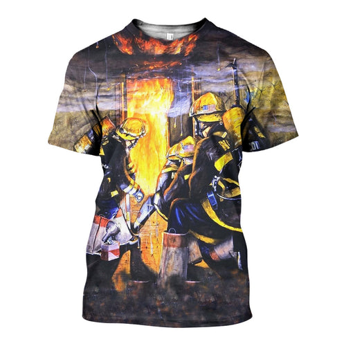3D All Over Printed Firefighter Shirts And Shorts DT15071904