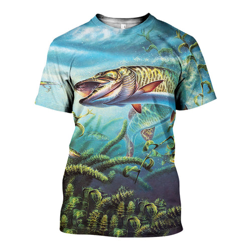3D All Over Printed Fishing Shirts And Shorts DT231117