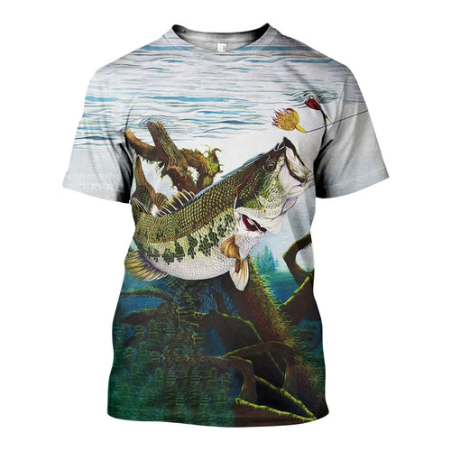 3D All Over Printed Fishing Shirts And Shorts DT231121
