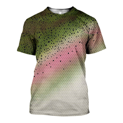 3D All Over Printed Rainbow Trout Camo Shirts And Shorts DT2702201904