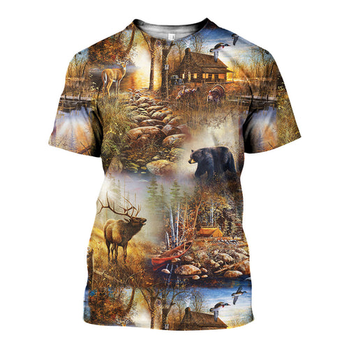 3D All Over Printed Hunting Camo Shirts And Shorts DT101212