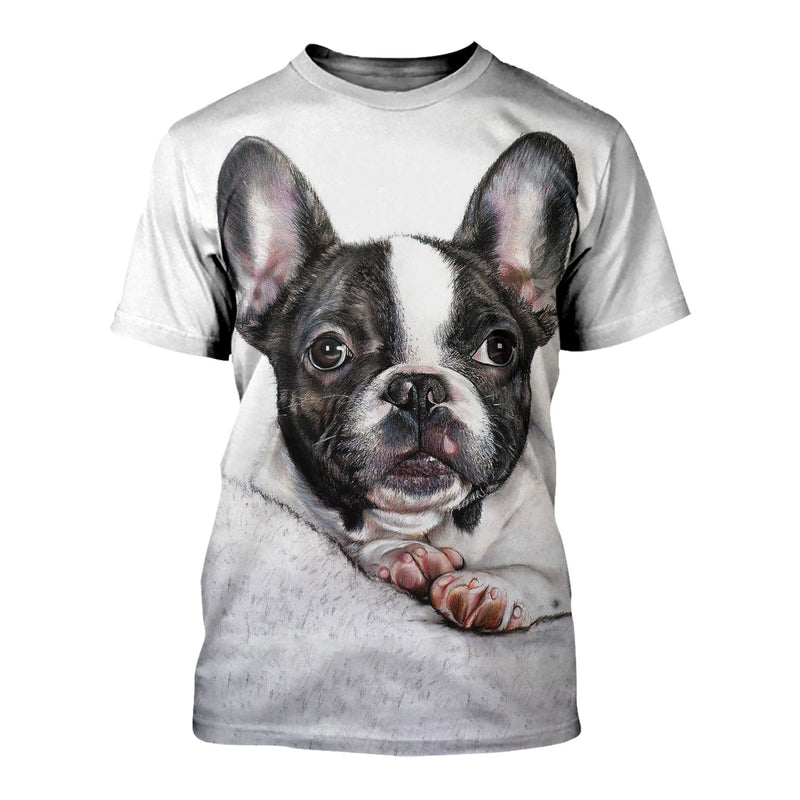 3D All Over Printed French Bulldog Shirts And Shorts DT23081908