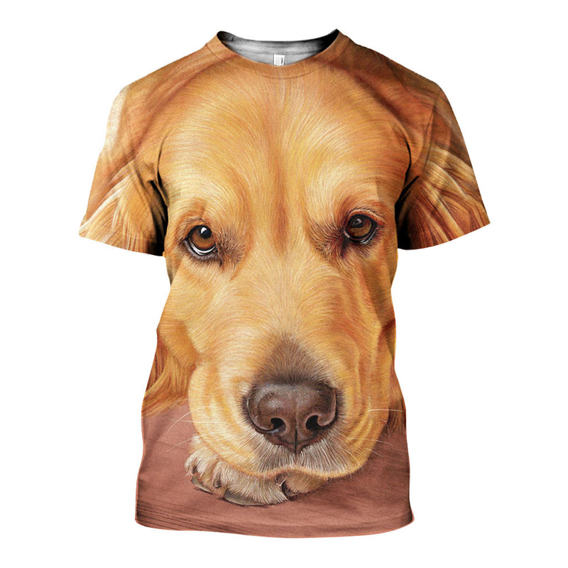 3D All Over Printed Golden Retriever Shirts And Shorts DT05091904