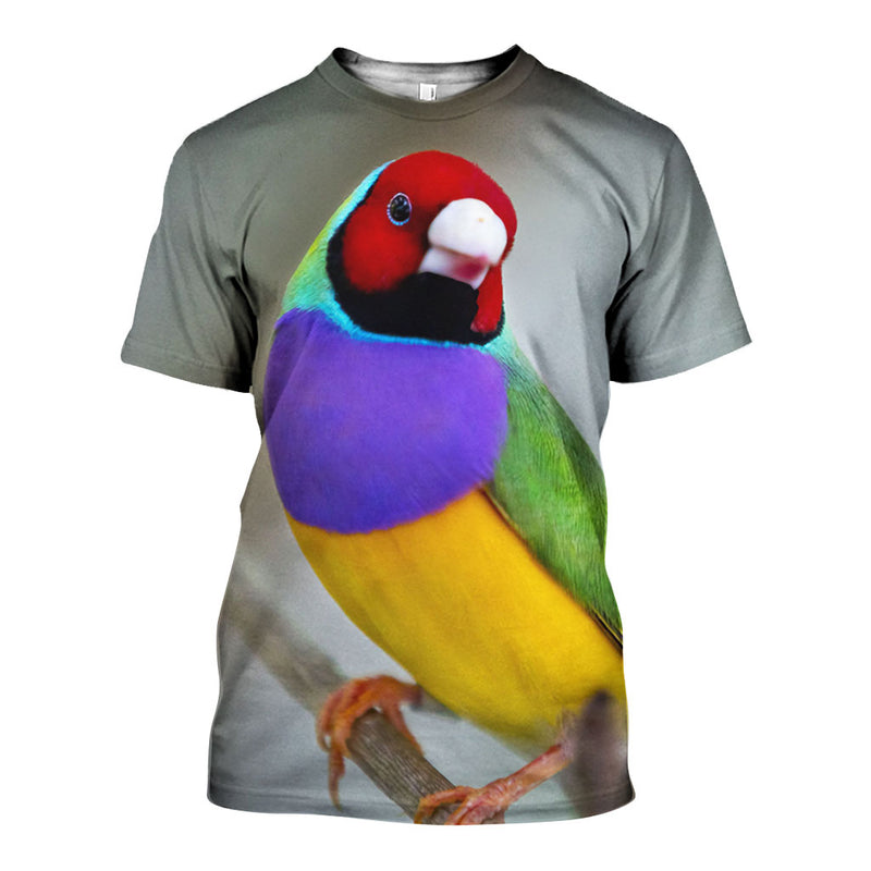 3D All Over Printed Gouldian finch Shirts And Shorts DT05081907