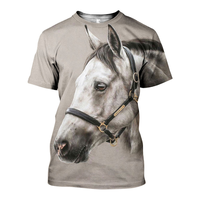 3D All Over Printed Horse Shirts And Shorts DT11041903