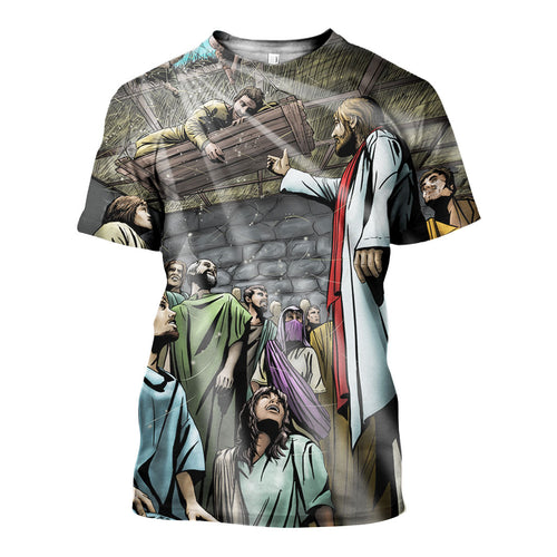 3D All Over Printed Jesus Shirts And Shorts DT171113