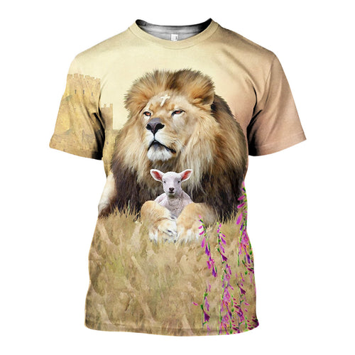 3D All Over Printed Lion of Judah Shirts And Shorts DT191102