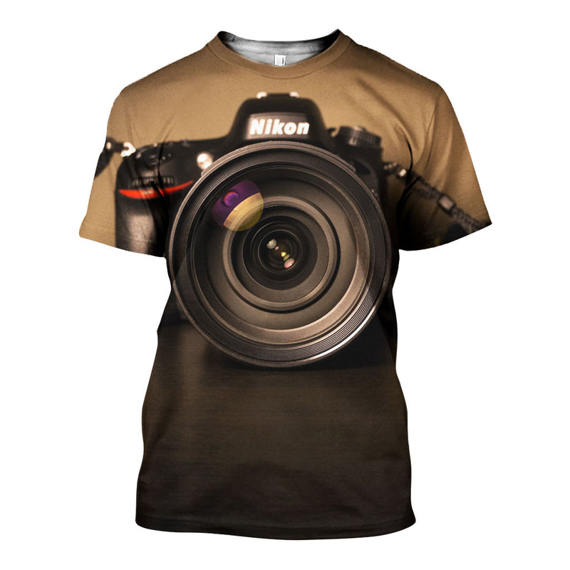 3D All Over Printed Camera Shirts And Shorts DT191107