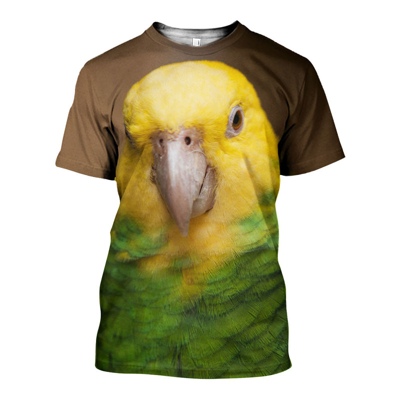 3D All Over Printed Yellow-Headed Amazon Shirts And Shorts DT231104