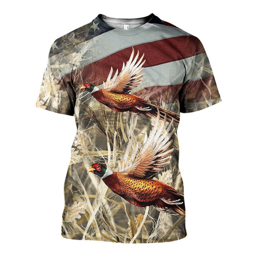 3D All Over Printed Pheasant Camo Shirts And Shorts DT191120