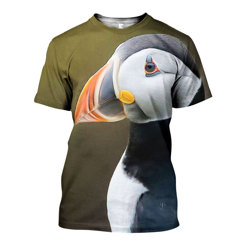 3D All Over Printed Puffin Shirts And Shorts DT151213
