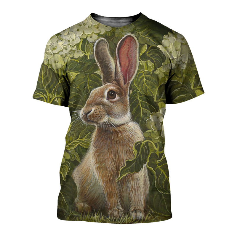 3D All Over Printed Rabbit Shirts And Shorts DT23081912