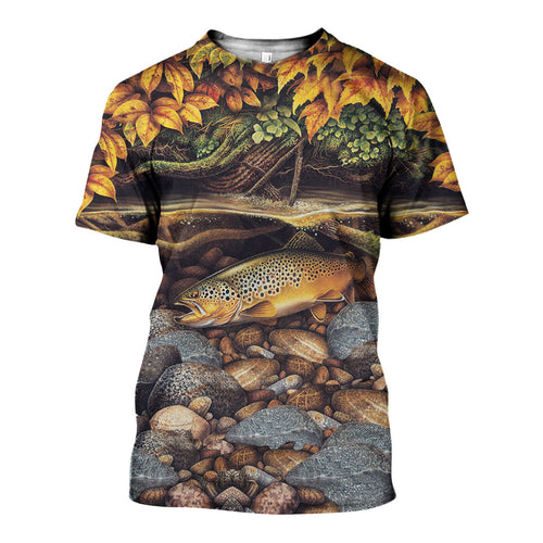 3D All Over Printed Rainbow Trout Fishing Shirts And Shorts DT231109