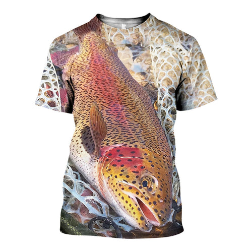3D All Over Printed Rainbow Trout Shirts And Shorts DT231113