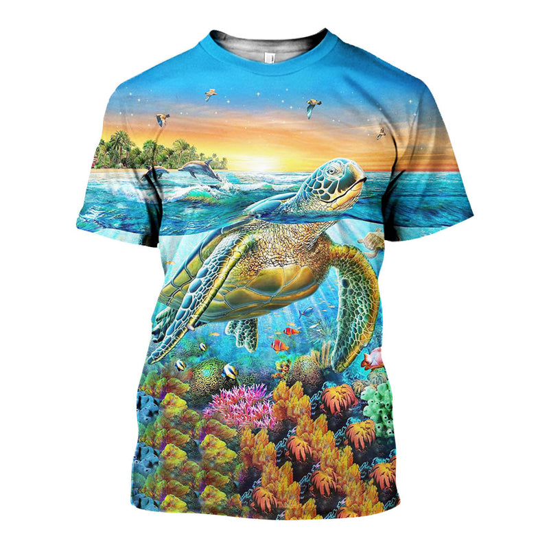 3D All Over Printed Sea Turtle Shirts And Shorts DT101207