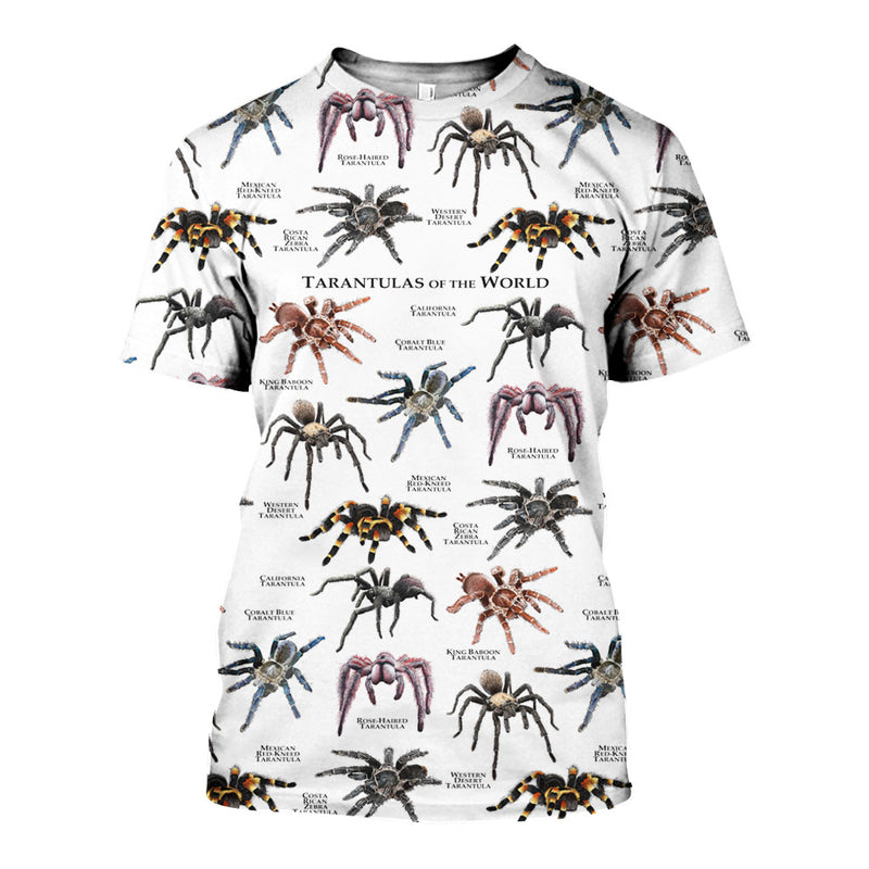3D All Over Printed Tarantulas of the World Shirts And Shorts DT151206