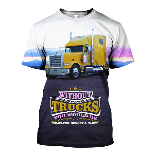 3D All Over Printed Trucks Shirts And Shorts DT31051901