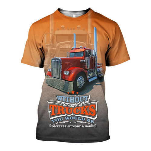 3D All Over Printed Trucks Shirts And Shorts DT29051908