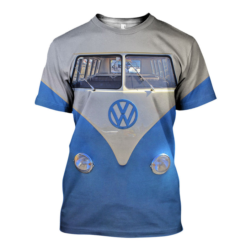 3D All Over Printed VW Type 2 Shirts And Shorts DT23071902
