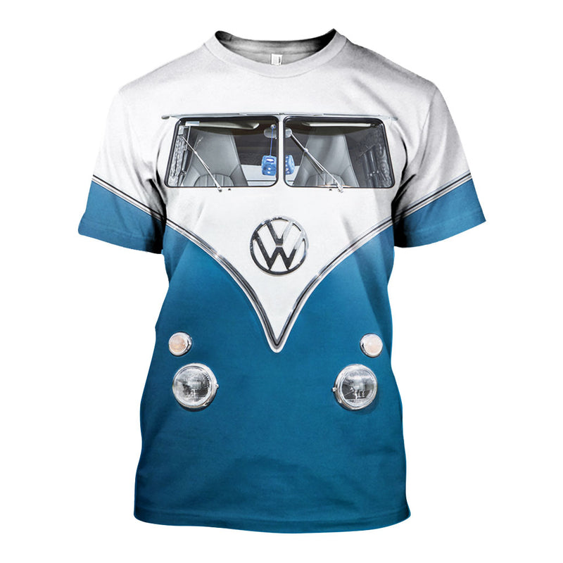 3D All Over Printed VW Type 2 Shirts And Shorts DT30071903