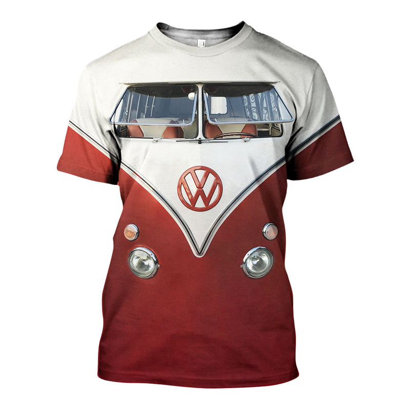 3D All Over Printed VW Type 2 Shirts And Shorts DT31071901