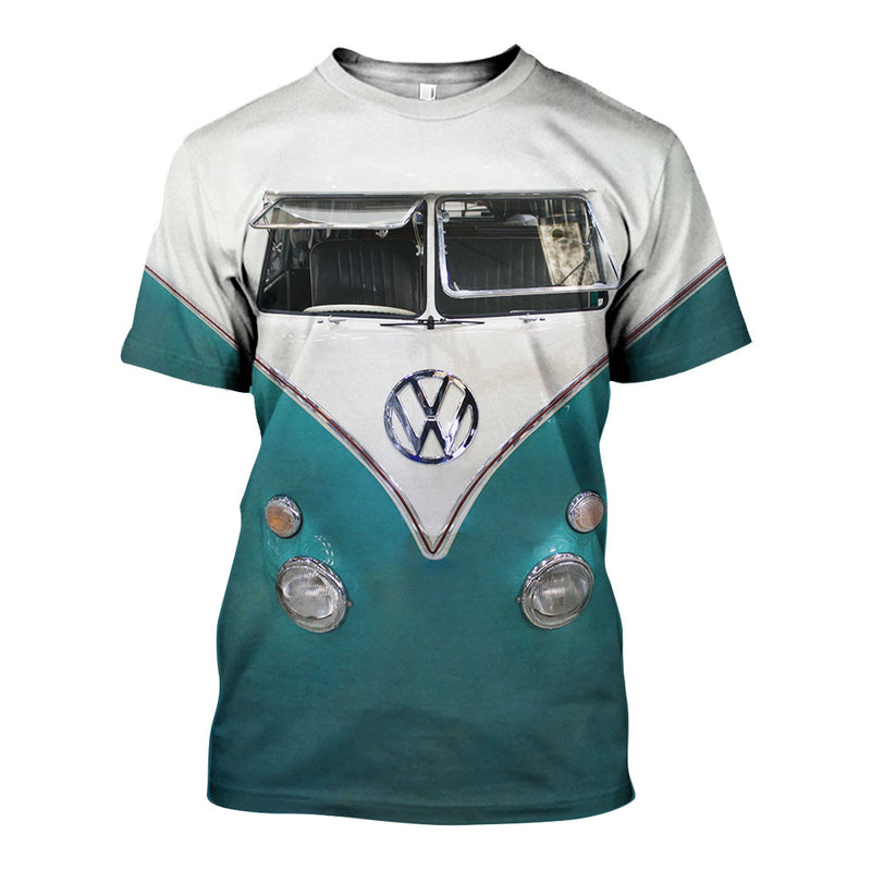 3D All Over Printed VW Type 2 Shirts And Shorts DT16071905