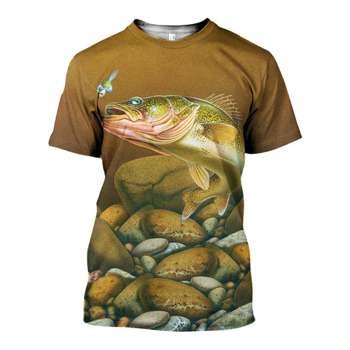 3D All Over Printed Walleye Fishing Shirts And Shorts DT11041901
