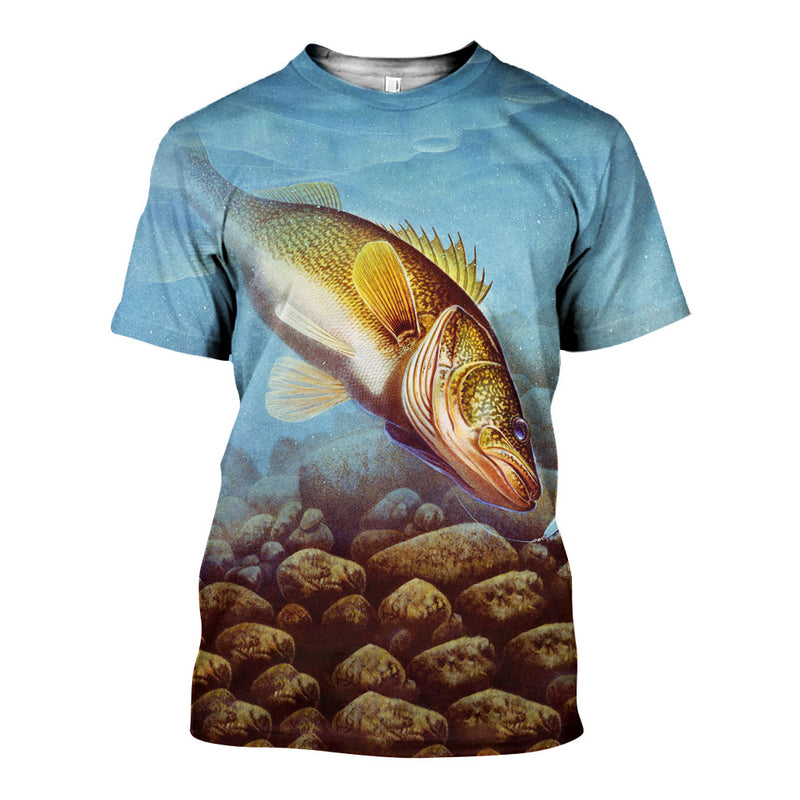 3D All Over Printed Walleye fishing Shirts And Shorts DT27051902