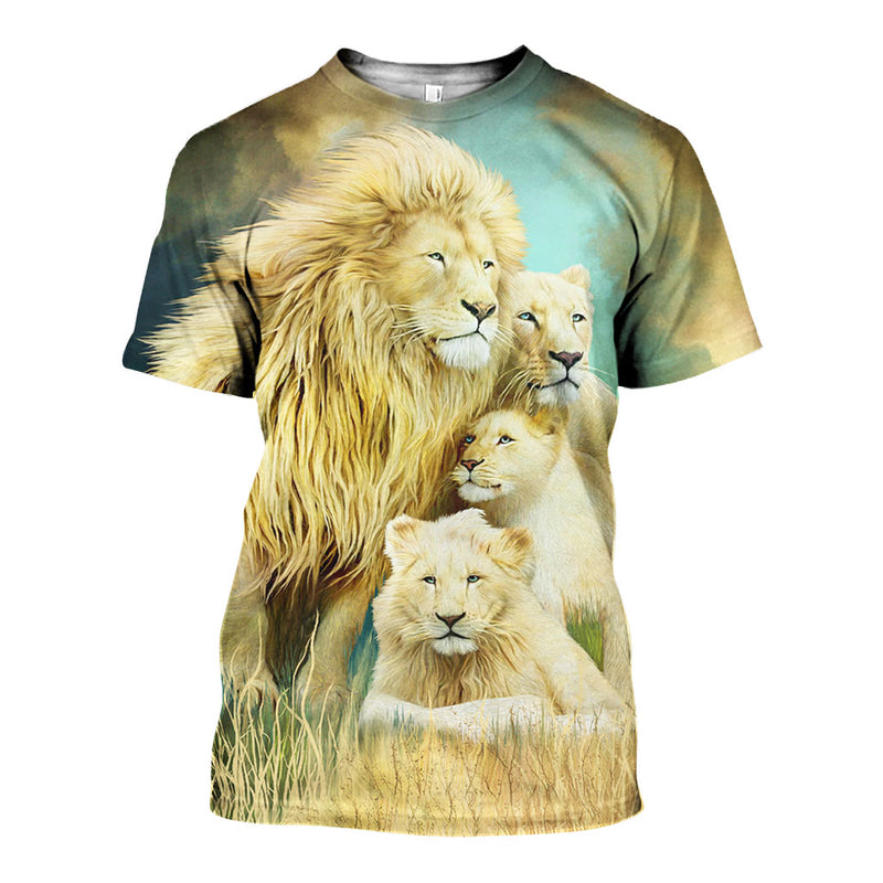 3D All Over Printed Lion Shirts And Shorts DT15031906