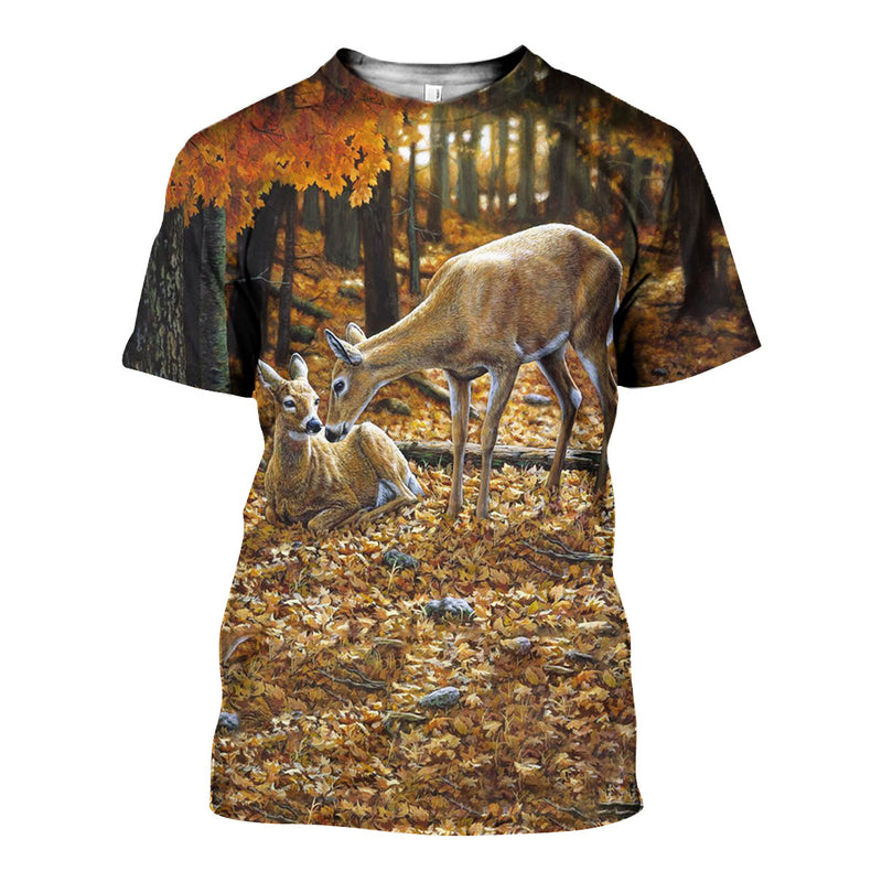 3D All Over Printed Whitetail Deer Shirts And Shorts DT151103
